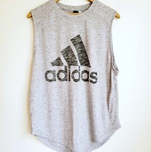 Adidas | Speckled Crew Neck Muscle Tank Top